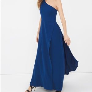 NWT Blue One Shoulder Gown